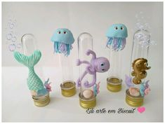 Tubete sereia luxo, faço alterações se quiser. Consulte data disponível. Octonauts Party, Mermaid Parties, Mermaid Birthday, Creative Activities, Baby Shark, Party Favors, Party Themes, Place Card Holders, Baby Shower