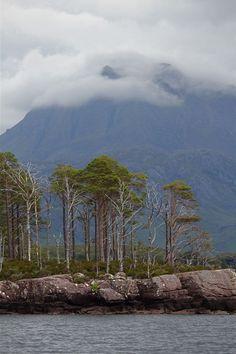 slioch towering over loch maree