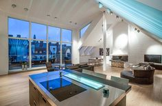 Attic Penthouse in Stockholm