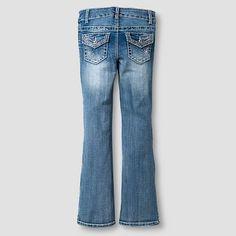 Girls' Jeans Medium Vintage Denim Wash 7, Girl's, Blue