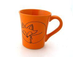 Fox Mug  Orange can be personalized por LennyMud en Etsy, $14.00