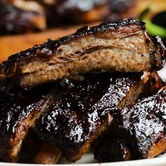 Block Party Ribs By Marcus Samuelsson Recipe by Tasty Ribs On Grill, Pork Ribs, Bbq Ribs, Baked Ribs, Rib Recipes, Smoker Recipes, Yummy Food, Tasty, Pork Dishes