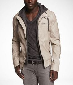 (Minus the) Leather Hooded System Jacket - Express Men