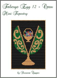 Faberge Egg 12 Open Mini Tapestry by Suzanne Cooper