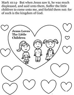 Jesus loves the little children activity sheet for kids ...