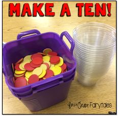 Fun, low prep/high engagement activities for making ten.  EASY, Step by step directions in the blogpost