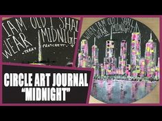How to: Circle Art Journal Page - Wear Midnight