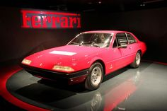 Ferrari 400, Museo Nazionale dell'Automobile, Turin. There's only one Ferrari on a turntable...