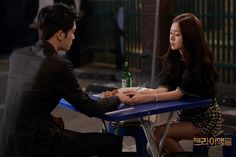 Soothing hands of Junghee to Youngdal in Triangle