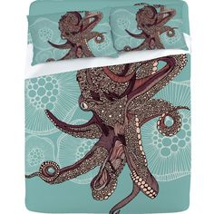 Valentina Ramos Octopus Bloom Sheet Set ....lost my breath for just a bit----my favorite thing on this board so far....so FREAKING great