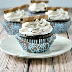 Mocha cupcakes with coffee buttercream