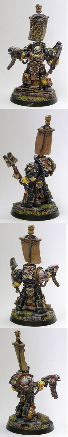 Imperial Fists Terminator Chaplain Love the way chapter color (yellow) is combined with chaplain black.