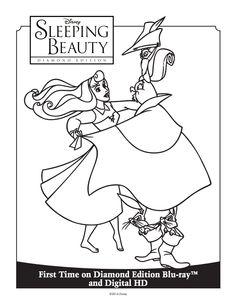Sleeping Beauty Coloring Sheet