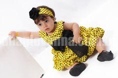 Look Festa Infantil Abelhinha Ana Giovanna
