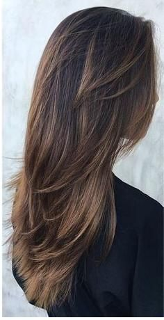 Lange Haare Stufenschnitt Frisuren 2018 Pinterest Hair Hair