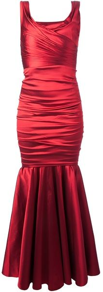 Fitted Fishtail Gown - Lyst    jaglady