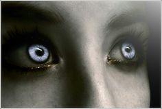 vampire: by nonononyu on DeviantArt Writing Inspiration, Character Inspiration, Vampires And Werewolves, White Eyes, Blue Eyes, Fantasy, Eye Art, Cool Eyes, Beautiful Eyes