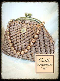 Camel Silk Yarn Clutch Etsy CaitiHandmade