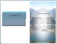 A free to download funeral program template Microsoft Word in .doc file format that can be customized into many forms and editing the name, place, date, etc.