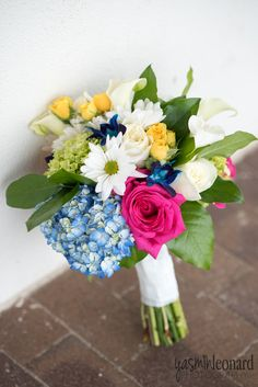 Bright and beautiful bouquet for an October wedding by Just Priceless