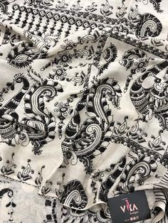 Printed Kalamkari cotton saree with printed blouse PC with rich pallu Kalamkari Saree, Cotton Saree, Printed Blouse, Alexander Mcqueen Scarf, Sarees, Embroidery, Boutique, Photography, Collection