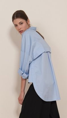 Satin Poplin Oversized Shirt