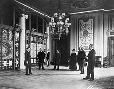 The Entrance Hall, circa 1894, with Tiffany glass screens (Library of Congress)