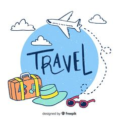 Travel vectors and photos - free graphic resources Travel Icon, Travel Logo, Travel Ad, Free Travel, Paris Travel, Logo Voyage, Travel Clipart, Travel Drawing, Story Instagram