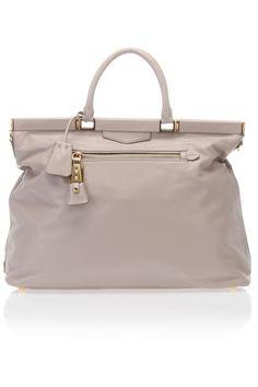 Prada Soft Calf Shoulder Bag In Pumice