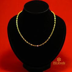 "14 Karat Yellow Gold Anchor Chain 18"" - JSS Jewels"