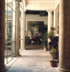 The Home of Axel and May Vervoordt. Office Interior Design, Interior Design Inspiration, Exterior Design, Interior And Exterior, Axel Vervoordt, Crittall, Minimalist Interior, Old Buildings, Patio Doors