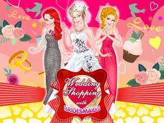 Wedding Shopping With Bridesmaids: Em breve esta bela princesa vai casar e há muitos preparativos a serem feitos.  Mas, ela sempre pode contas com BFFs que serão madrinhas do casamento. Junte-se a elas e ajude a deixar tudo pronto para o casamento.