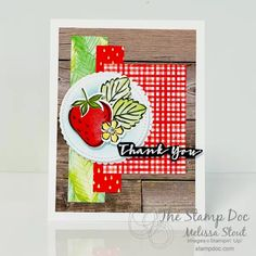 Sweet Strawberry Stamp Set and Punch Stamparatus Trick Joy Fold Card, Fun Fold Cards, Valentines Day Cards Handmade, Valentine Crafts, St Patricks Day Cards, Stamping Up Cards, Card Making Inspiration, Pretty Cards, Flower Cards