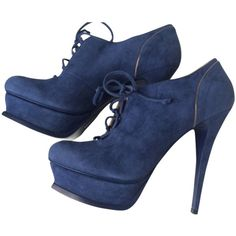 Pre-owned Saint Laurent Ysl Tribute 105 Richel Bootie Blue Platforms ($437) ❤ liked on Polyvore featuring shoes, blue, yves saint laurent shoes, gold platform shoes, pre owned shoes, yves saint laurent and platform shoes