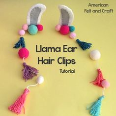Sewing tutorial: Felt llama ear hair clips – Sewing You can never have too many llama crafts, but these llama ears take it to the next level and allow you to be a llama on demand. This fun llama craft is easy to make with basic sewing skills and a l… Llama Halloween Costume, Llama Costume, Easy Felt Crafts, Crafts For Kids, Diy Crafts, Sewing Tutorials, Sewing Crafts, Sewing Diy, Sewing Patterns