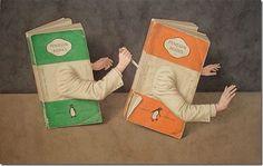 Libros retratados en las Ilustraciones de Jonathan Wolstenholme