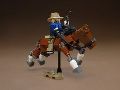 even a lego horse is cute to me! Lego Animals, Lego Boards, Rough Riders, Cool Lego Creations, Lego Design, Lego Building, Building Ideas, Lego Projects, Old West