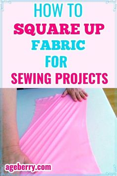 Learn how to square up fabric with this video sewing tutorial if you need to cut fabric straight for beginner sewing projects. Squaring up a quilt top or quilt blocks usually means straightening fabric before cutting.Sounds simple, right? But in fact this is often a real problem that needs to be addressed. If you know how to find the grain of fabric and how to square up fabric that's problematic, your sewing projects will improve tenfold. Scrap Quilt Patterns, Easy Sewing Patterns, Easy Sewing Projects, Sewing Hacks, Sewing Tutorials, Sewing Tips, Sewing Ideas, Sewing For Beginners Diy, Sewing For Dummies