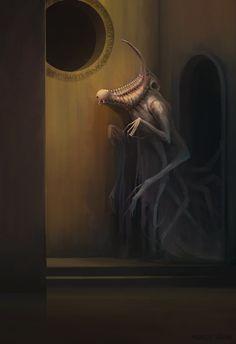 Wraith by Markus Härma on ArtStation. Wraith by Markus Härma on ArtStation. Monster Concept Art, Fantasy Monster, Monster Art, Cthulhu, Creature Concept Art, Creature Design, Arte Horror, Horror Art, Dark Fantasy Art