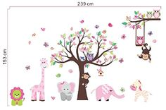 Girls Room Wall Decals - Butterflies Birds Owls Zoo Animals With Tree Stickers - Perfect Removable Wall Art for Growing Kids or Nursery Decoration - Easy Peel and Stick on Smooth Surfaces - Easy Cleaning-High Quality Adhesive-Best Lifetime Guarantee - Easy Cleaning Busy Bee Distributions http://www.amazon.com/dp/B00QFEC5KS/ref=cm_sw_r_pi_dp_-zENub0FBX97D