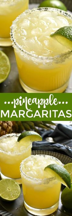 Twanette McDowell saved to Drinks & Pineapple Margaritas are a deliciously sweet, refreshing twist on the original! Made with just 4 simple ingredients and perfect for happy hour, weekends, and all summer long! Refreshing Drinks, Fun Drinks, Healthy Drinks, Beverages, Mixed Drinks, Healthy Smoothies, Smoothie Recipes, Summer Cocktails, Cocktail Drinks