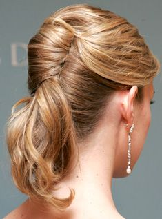 French twist into a ponytail (2 video tutorials)
