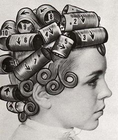 Setting directions for bouffant hairstyles from the mid-1960s!
