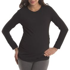 32ae011734 Great Expectations Maternity Basic Long Sleeve Tee with Ruched Sides Great  Expectations
