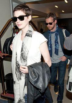 Anne Hathaway Short Hair. Love.