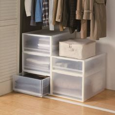 Looking for additional space to store your winter clothes? Combine our PP storage boxes and drawers to create a storage option adapted to your needs.