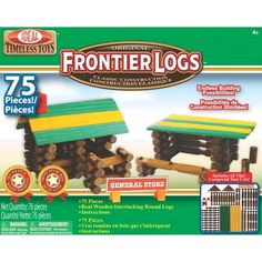 Ideal Frontier Logs Classic All Wood 75-Piece Construction Set