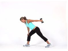 Bent Over Row with Tricep Kickbacks: tone the back of your arms and shoulders with this compound movement!