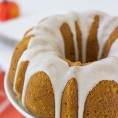 Pumpkin Pound Cake with Apple Cider Drizzle