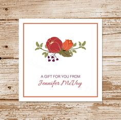 printable autumn flowers gift tags favor by CelebrateLilThings